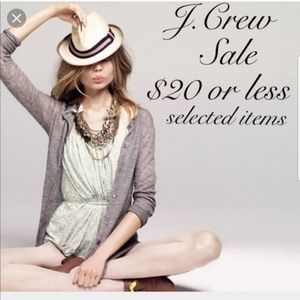 All of J.crew with exception of few things